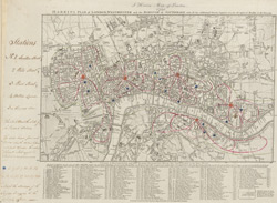 Harris's plan of London, Westminster and the borough of Southwark with all the additional streets, squares &c.; also the improved roads, to the year 1791
